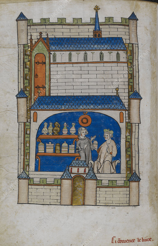 Apothecary shop, illustration