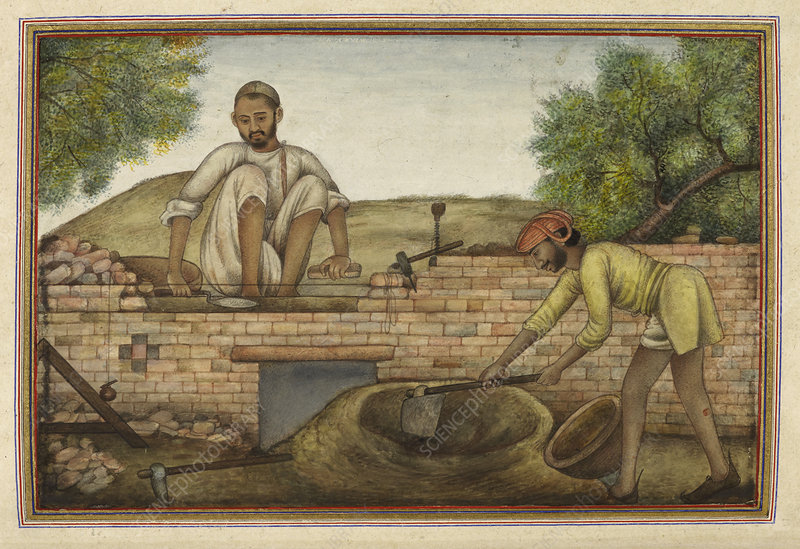 Indian bricklayer, illustration