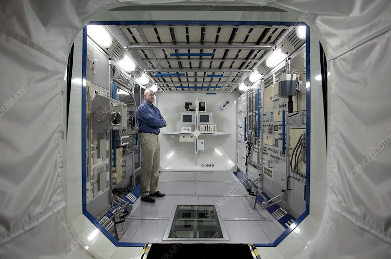 andre kuipers and iss colombus simulator stock image c024 7362 science photo library. Black Bedroom Furniture Sets. Home Design Ideas