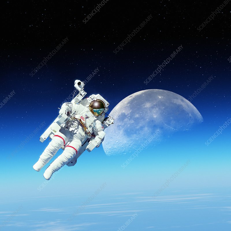 Space-walk, composite image