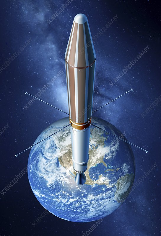 Explorer 1 satellite, illustration
