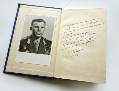 Book signed by Yuri Gagarin