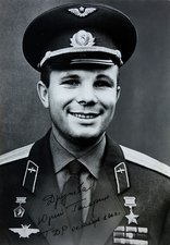 Signed photo of Yuri Gagarin
