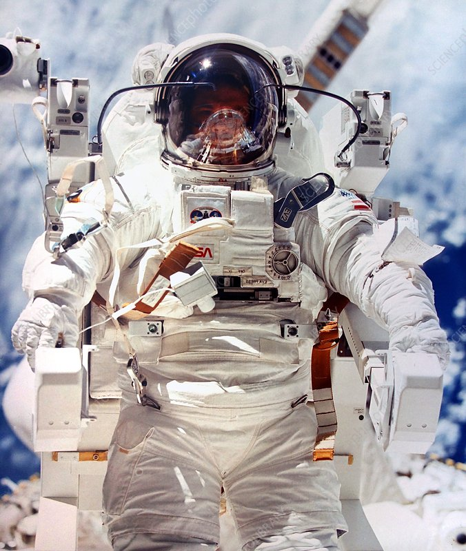 Astronaut during space-walk