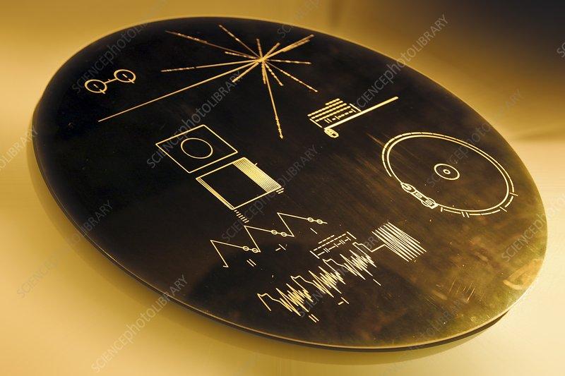Voyager program, commemorative plate