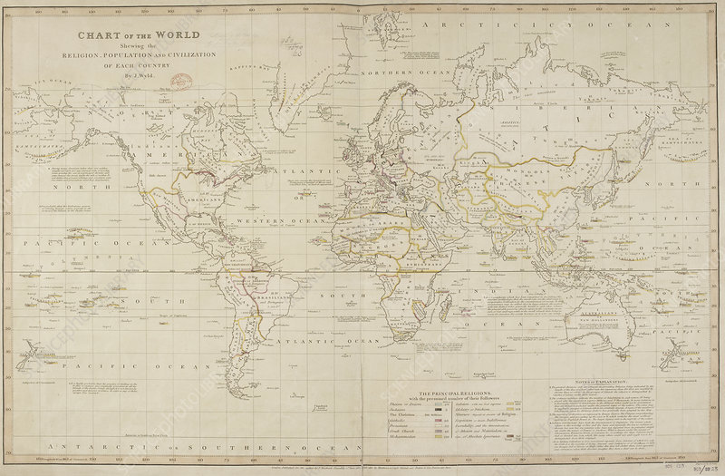 19th Century demographic map of the World