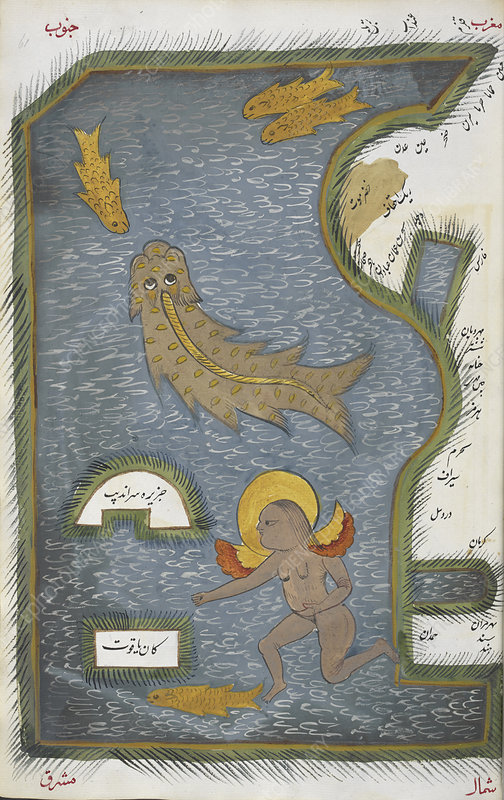 Persian Sea, historical illustration
