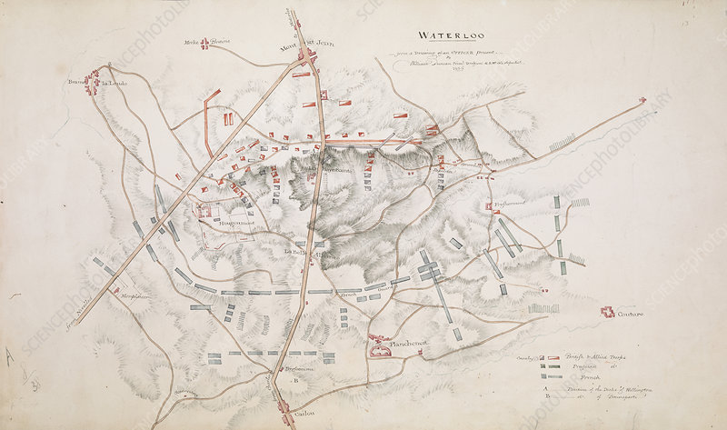 Plan of the Battle of Waterloo