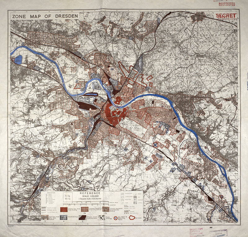 War map of Dresden, Germany