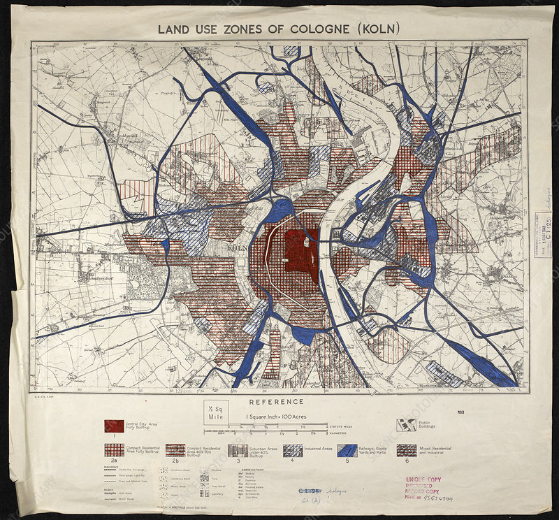 War map of Cologne, Germany