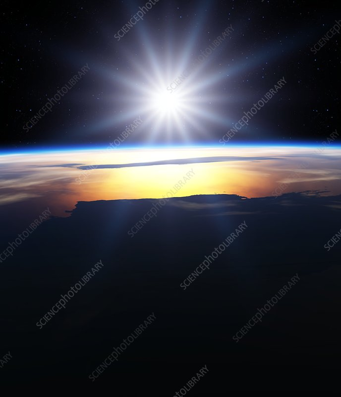 Sun over the Earth