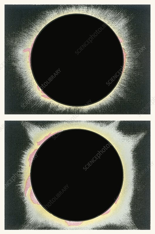 Total solar eclipse, illustration