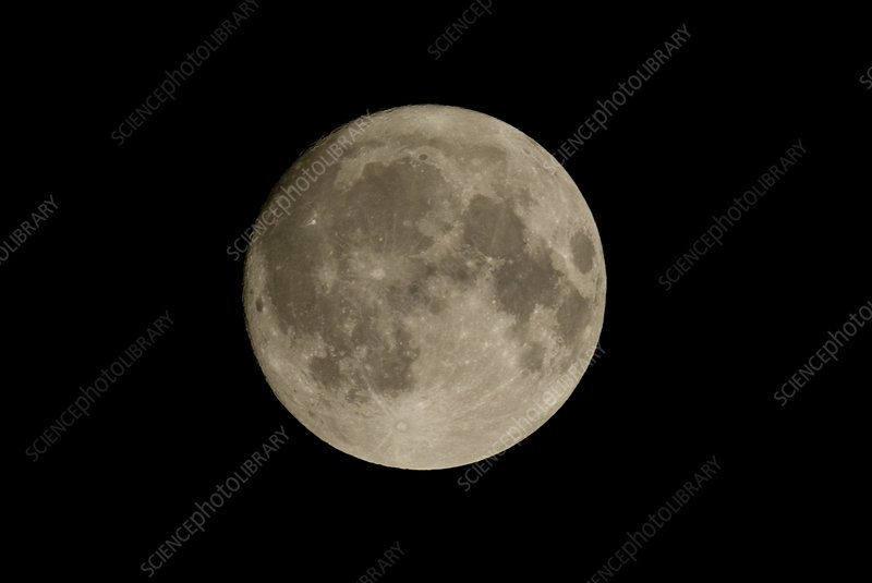 Full moon, optical image