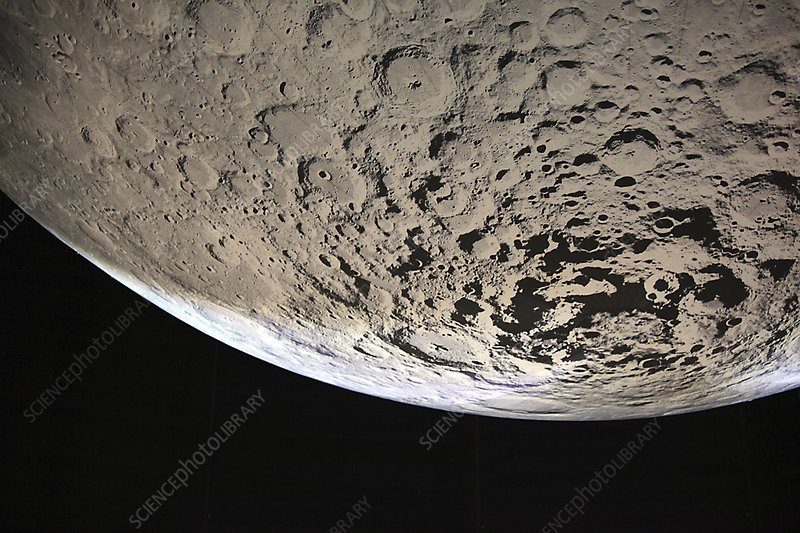 Moon's south pole, illustration