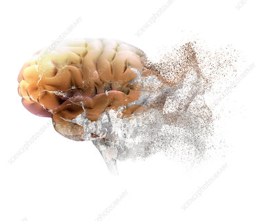 Brain disease, conceptual illustration