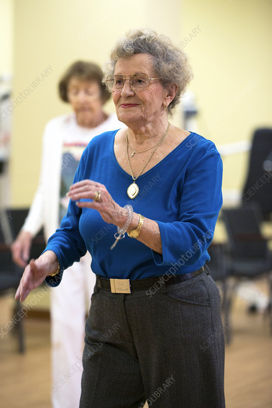 Exercise class for active elderly