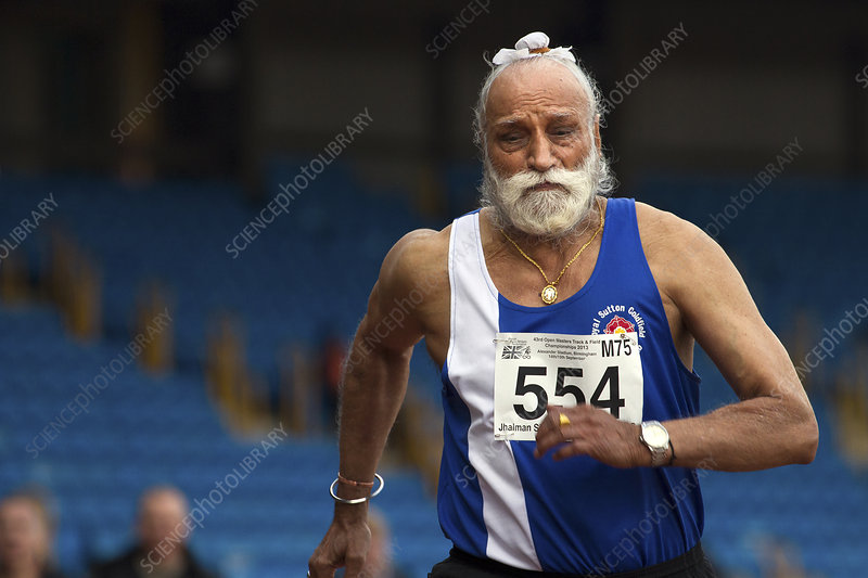 Jhalman Singh, British masters athlete