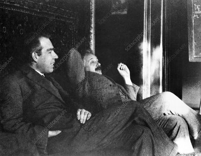 Bohr and Einstein, historical image