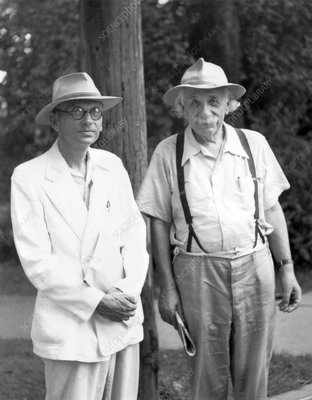 Einstein and Godel, historical image