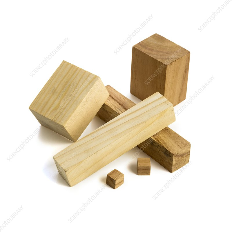 Variety of wooden blocks
