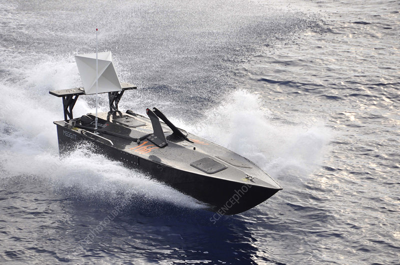 Military boat drone