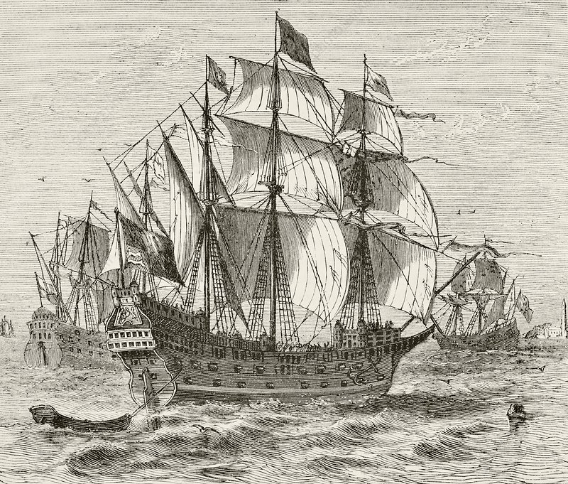 English War Vessel Harry Grace A Dieu