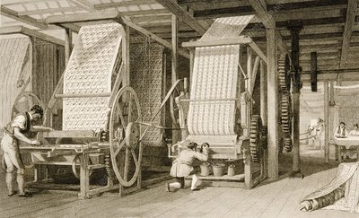 Calico Printing In Cotton Mill In 1830S