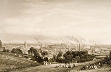 General View Of Stockport, Lancashire
