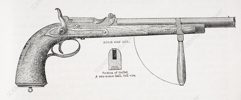 Carbine Pistol And Projectile