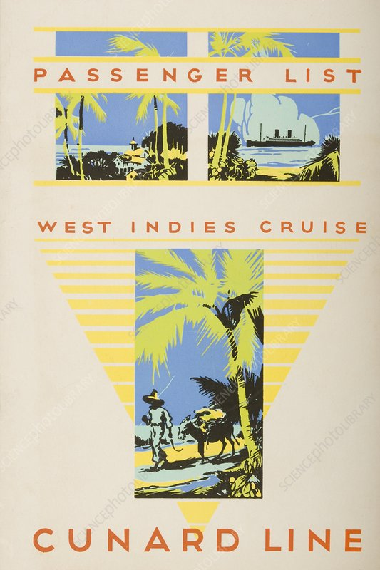 Passenger List, West Indies Cruise