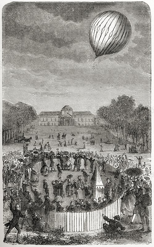 Ascent Of Charles Balloon