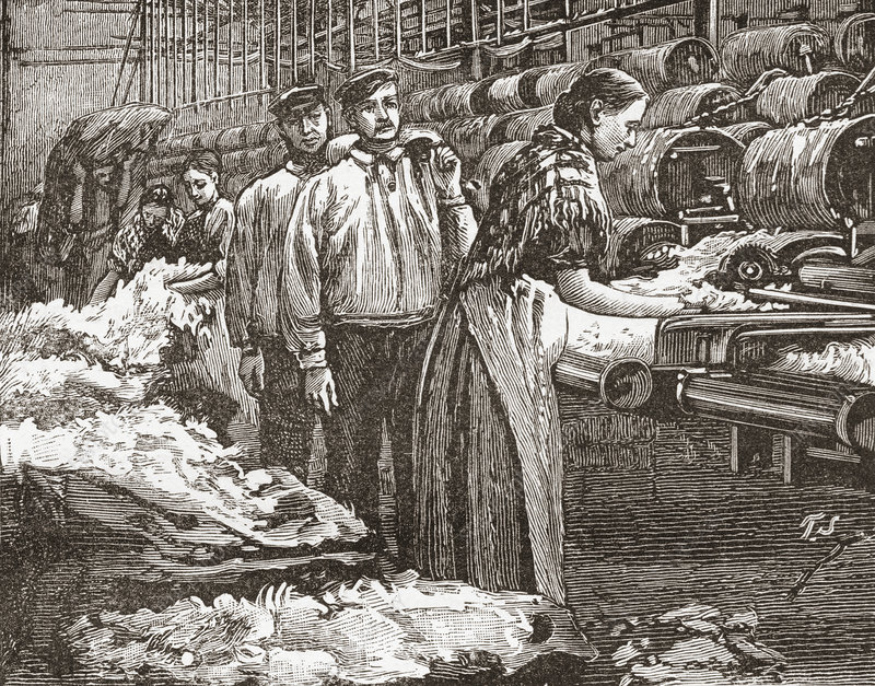 Workers At The Saltaire Woollen Mill