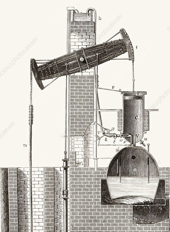 Newcomen's Atmospheric Steam Engine