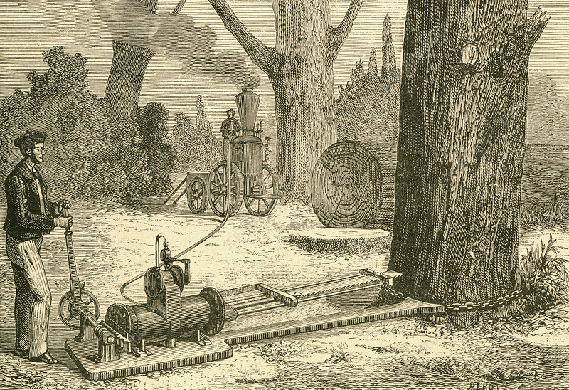 Cutting Trees Using Vapour Machines