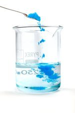 Copper sulphate dissolving in water