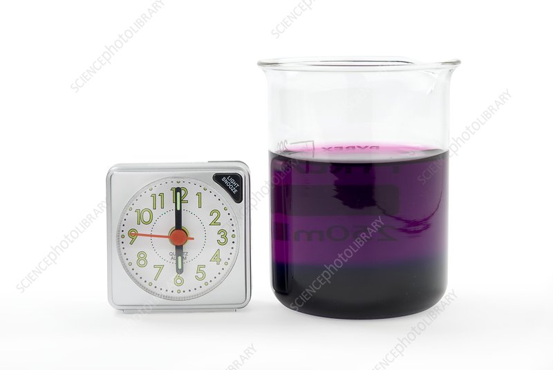 Potassium permanganate diffusion in water