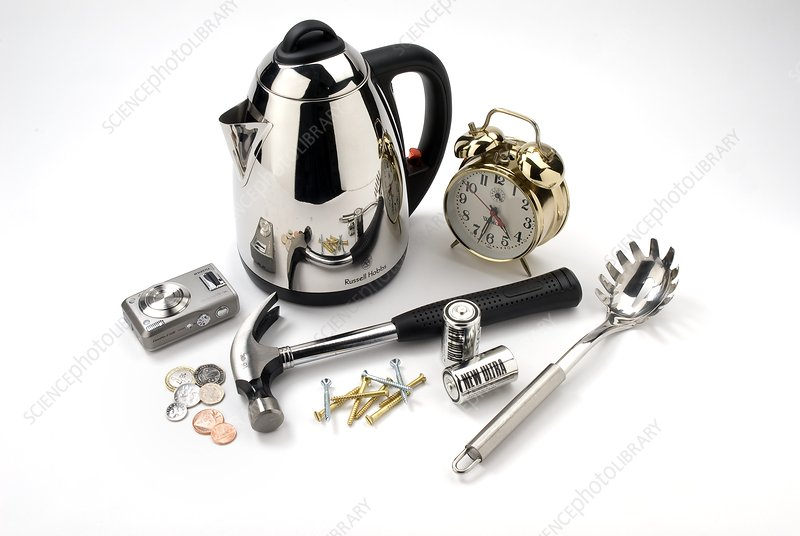 Metal household objects