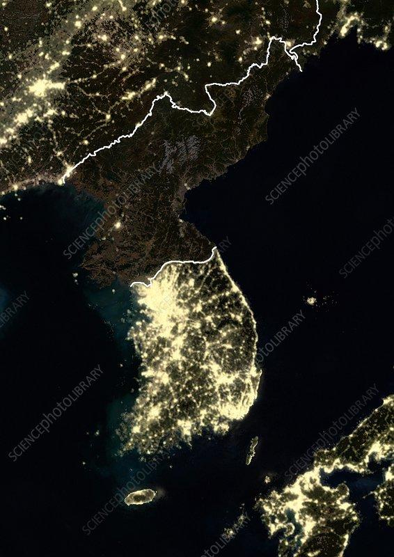 C0249385-Korean_Peninsula_at_night-SPL Satellite Map Of Korea At Night on korea satellite night view japan, korea satellite map view, korea satellite night time, korea world of lights,