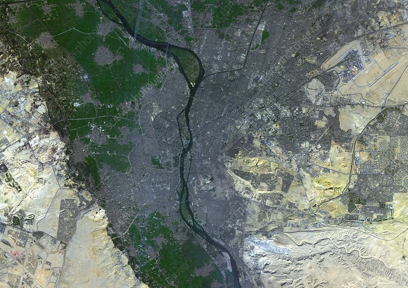 Cairo, Egypt, satellite image