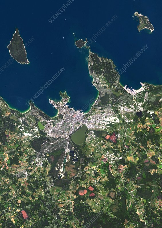 Tallinn, Estonia, satellite image