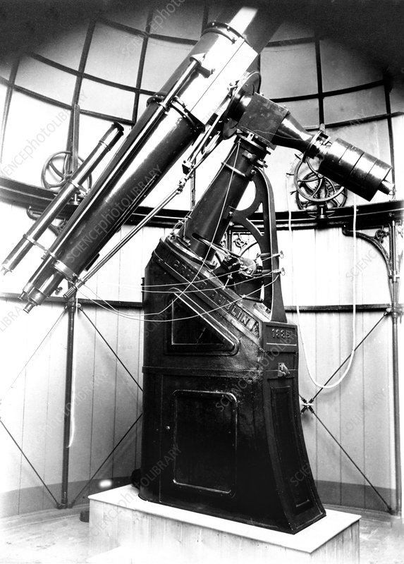 Armagh 10-inch refractor telescope, 1885