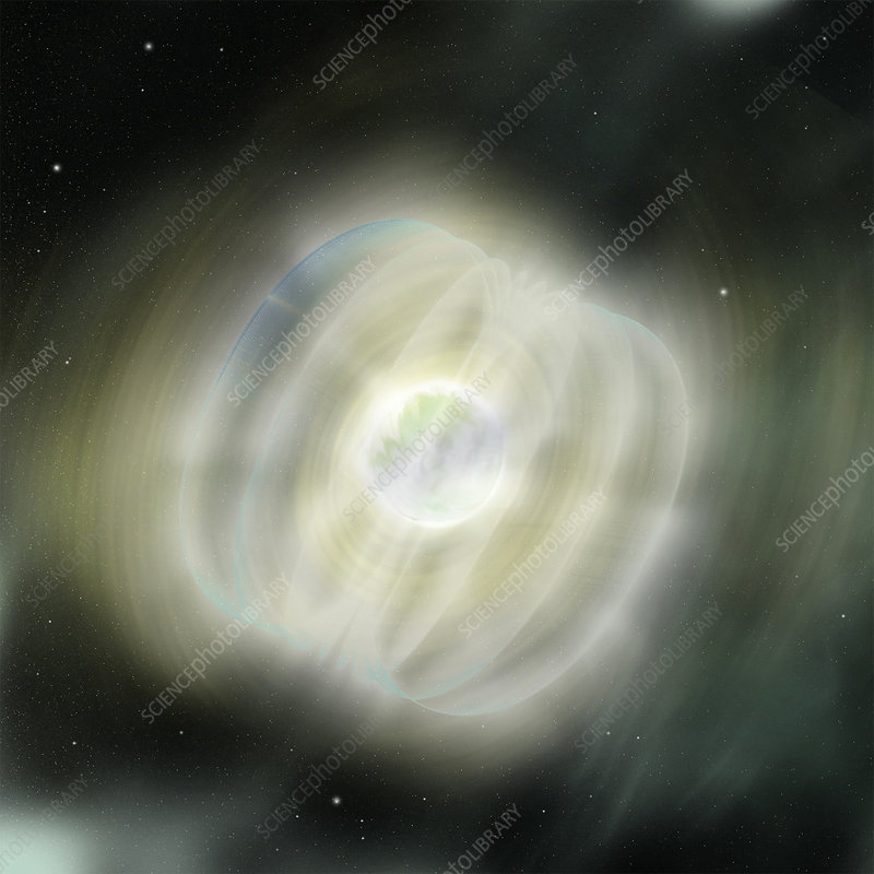 Magnetar in space, illustration