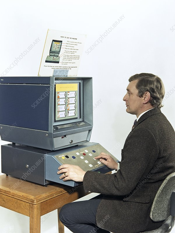 Mining safety survey machine, 1970s