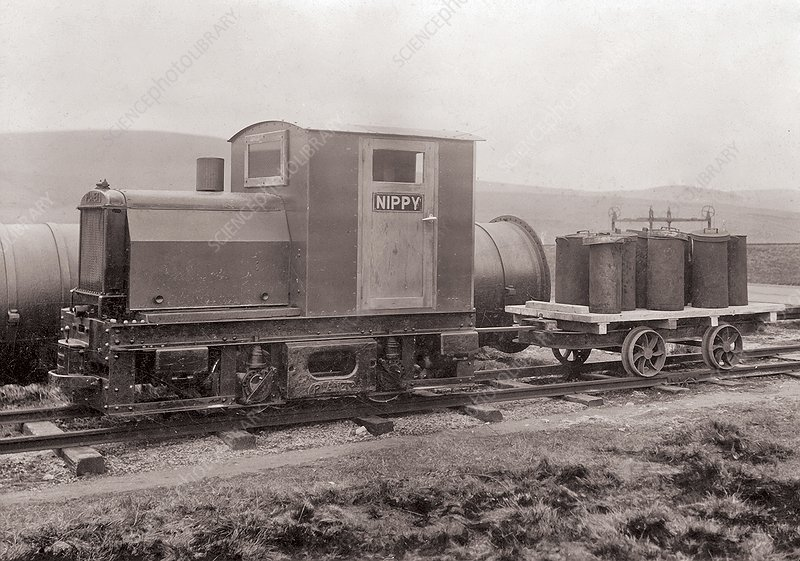 Coal dust explosion research train, 1930s