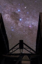 Milky Way over the Very Large Telescope