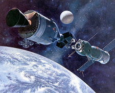 Apollo Soyuz Test Project in orbit