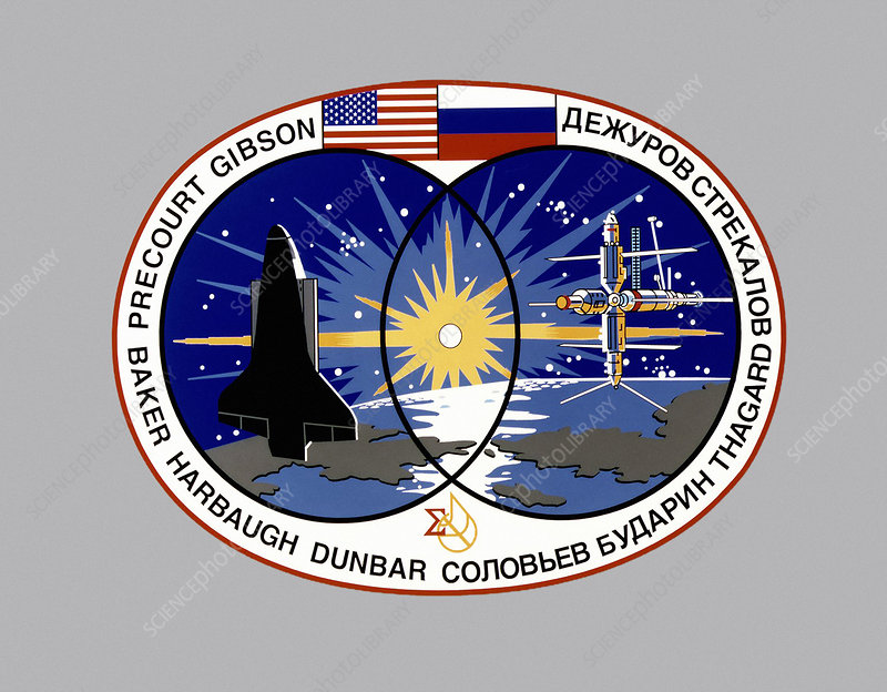 STS-71 mission insignia, illustration