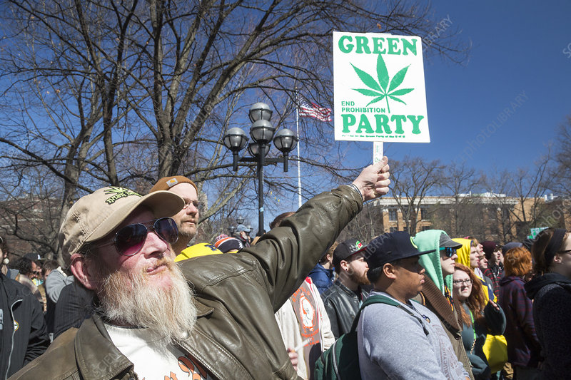 Legalisation of marijuana rally