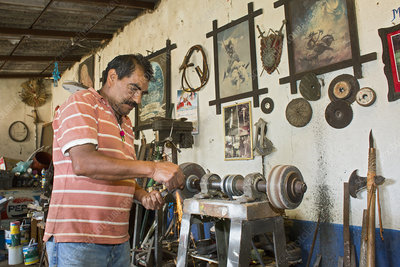 Artisan metal worker, Mexico