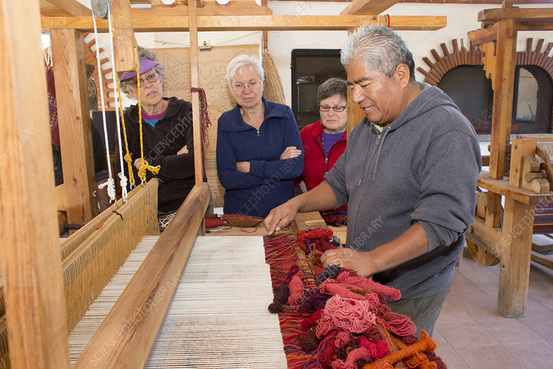 Weaving demonstration, Mexico